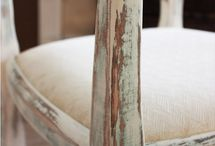 Old painted furniture