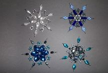 My beading christmas decorations / Beading stars and snowflakes