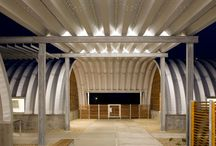 a.Metal Vaults / Architectural use of metal premanufactured vaulting systems, pinned by Steve Hall Architecture