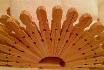 lavori con mollette legno