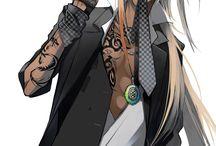 anime guys with long hair