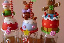 frascos de navidad