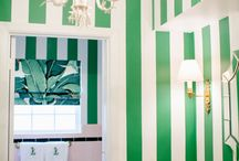 Mamie Tile / chic ways to deal with pink tiled bathrooms