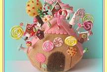 Sew Sweet, Pincushions II / Pincushions,buttons and spools I have more pincushions on sew sweet board.