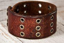 Leather Cuffs & Bracelets / by Michelle Lane