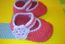 Horgolt és kötött kiscipők - Háčkované a pletené topánočky / Horgolt és kötött babacipők, pamutból kicsiknek