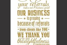 Self-Promos and Client Thank Yous