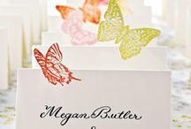 Mariage papillons marque place / Des idées pour un marque place pour une décoration de mariage thème papillon
