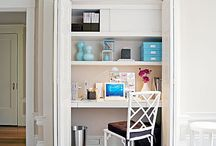 #MiniOffice #Craft  #Wrapping #SewingCloset ::  #Organizing / Alternative office, sewing, craft and wrapping spaces. Great for homes with limited space.