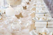 stůl a zdobení