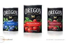 Fruit and vegetable packaging design / Partnering with Oregon Fruit Products, Murray Brand performed a much-needed facelift on this iconic brand's packaging to freshen the imagery, typography and messaging hierarchy.