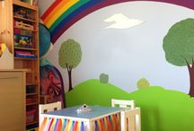 Rainbow  bedroom / by Katy Selmi Downs