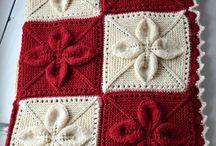 pletené, háčkované deky