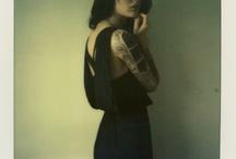 Polaroid Lingerie/Glamour / Ideas including lingerie, alt/tattoo girls, plenty of light