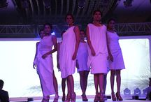 Panchatavtas- Air / Breezing through the sands of time, James Ferreira's ensembles depict AIR- the first element, a portrait of purity in white. His unique design philosophy is recognizable in his flowing garments, from a weave to a drape to a cut, and finally a silhouette- all with a single piece of cloth. In one sentence, he believes- 'It will end like it began, with a piece of cloth.'