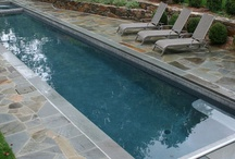 Lap pool and poolettes / Back yard pool dreams / by Gina Ramey