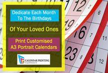 A3 portrait calendars