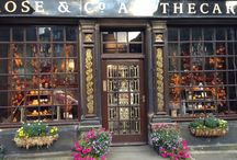 Autumn Windows / We spent a lovely September afternoon creating these Autumnal windows. Come and see our Haworth Apothecary soon.