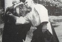 Morihei Ueshiba with André Nocquet