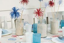 it started with RED, WHITE & BLUE / by Linda @ it all started with paint blog