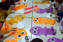 Okul öncesi ahtapot ile ilgili etkinlikler