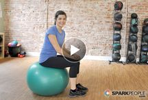 exercise with a stability ball