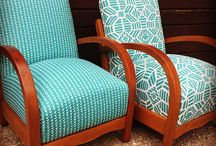 Mid century arm chairs