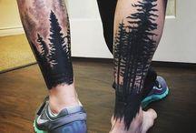 men tatoo leg