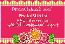 Partner-Augmented Input / Augmentative and Alternative Communication (AAC) Instructional Resources