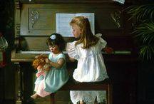 дети и куклы на полотнах художников