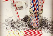 July 4th - Independence Day / Paper straws. 4th of July. Made in the USA. Independence Day. America