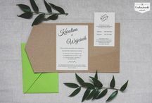 Wedding invitations / Zaproszenia ślubne / Handmade wedding Invitation made by Cudowianki / Ręcznie wykonane zaproszenia ślubne przez Cudowianki  www.cudowianki.pl