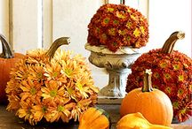 fall decorations / by Lindsey Hierholzer