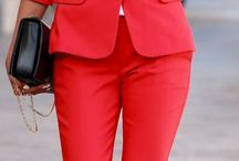 Suit for woman red