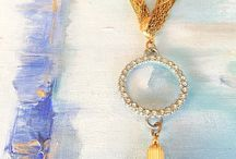 Vintage Necklace / Dora Mae Jewelry signature one of a kind modern vintage necklaces