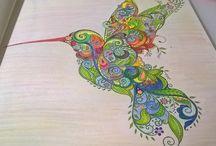 Moje własne kolorowanki / Nie jestem mistrzem, ale chciałabym pokazać to co ostatnio sprawia mi frajdę :) kolorowanki