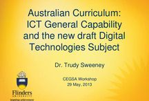ICT and Digital Technologies / Ideas for integrating ICT as a general capability or teaching Digital Technologies in the Australian Curriculum