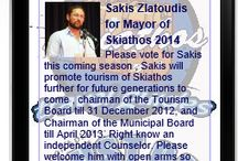 Sakis Zlatoudis for Mayor of Skiathos 2014 / Please vote for Sakis this coming season , Sakis will promote tourism of Skiathos further for future generations to come , chairman of the Tourism Board till 31 December 2012, and Chairman of the… Municipal Board till April 2013. Right know an independent Counselor. Please welcome him with open arms so that Skiathos can grow futher and become one of the worlds best tourist destinations. https://www.facebook.com/JustGoSkiathos