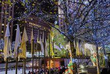 Rockefeller Center Christmas tree / Christmas spirit in full swing at Rockefeller Center, NY, #rockcenternyc, #envisionworksinc