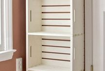 Wooden box shelving / Shelves for studio