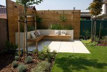 Garden / contemporary garden design, modern outdoor seating