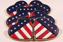 Red white and blue patriotic cookies