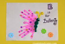 hand butterflies