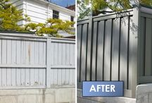 Fence Before & After - Trex / This board is dedicated to projects nationwide of properties before installing a Trex fence and afterwards. If you have your own before & after pictures, please request an invitation to pin your photos to this board.