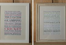 Personalised Framed Letterpress Prints / A collection of personalised framed letterpress prints designed and printed here in our studio to order. Supporting our online shop http://www.livelovecreateshop.co.uk