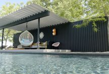 pool pavilion ideas backyards modern