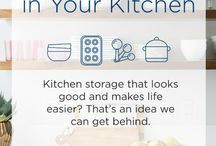 Organize Everything / Kitchen storage that looks good and makes life easier? That's an idea we can get behind!