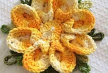 Flores de tricô