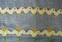 Kırlent dekoratif Dikiş çalışmaları