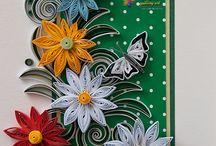 kartki z kwiatkami / Kartki pinterest ouilling.